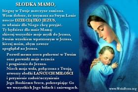Dzieciątko Jezus na łonie Matki