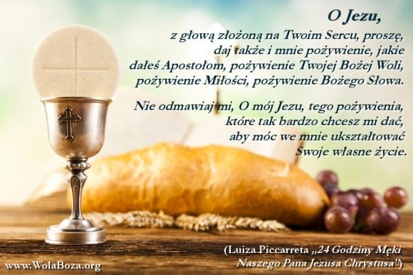 pożywienie Woli Bożej