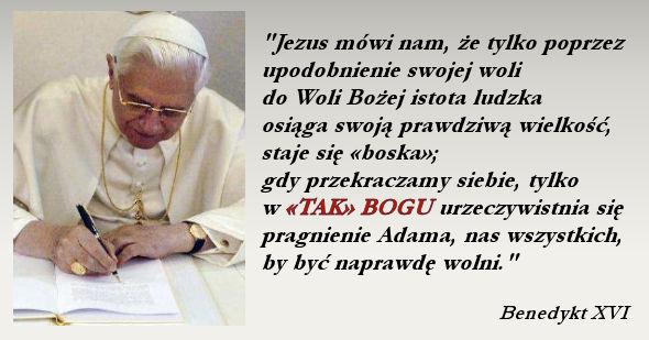 słowa papieża Benedykta